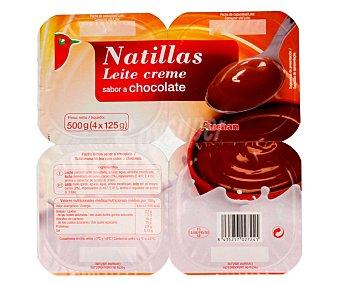 Auchan Natillas choco Pack de 4 unidades de 125 gramos