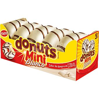 Donuts Mini con chocolate blanco Paquete 100 g