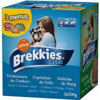 Brekkies Affinity  Alimento de pollo-cordero-buey Pack 3x300 g