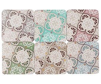 Bloom Set de 6 posavasos de colores surtidos, bloom.