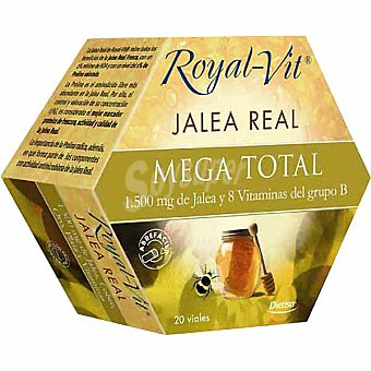 ROYAL-VIT Mega Total jalea real y vitaminas 20 viales  envase 300 g
