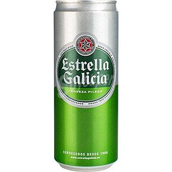 Estrella Galicia Cerveza rubia nacional lata 33 cl Lata 33 cl