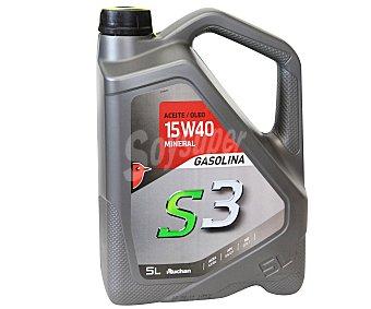 Auchan Lubricante mineral para vehículos gasolina S3 5 Litros