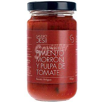 Sandro Desii Salsa de pimiento morrón y pulpa de tomate Frasco 180 g