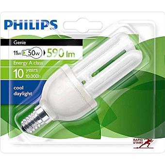 Philips Genie 11W (50 W) lampara ahorro blanco calido casquillo E14 (fino) 220-240 V