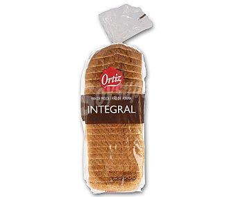 Ortiz Pan de molde integral con corteza 480 gramos