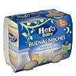 Tarrito de pescadilla a la crema a partir de 8 meses Pack 2 x 190 g Hero Baby Buenas Noches