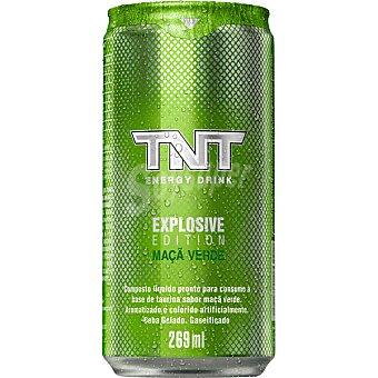 TNT Bebida energética a base de taurina sabor maca verde  lata de 26,9 cl
