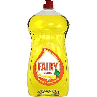 Fairy Ultra lavavajillas a mano concentrado limón Botella 1,5 l