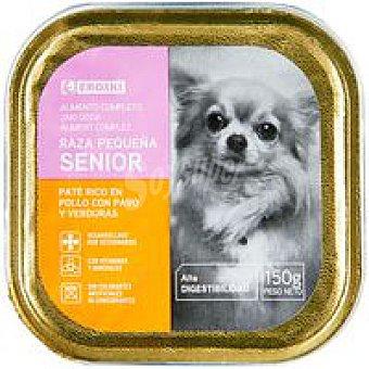 Eroski Paté de pollo para perro senior de razas peq. Lata 150 g