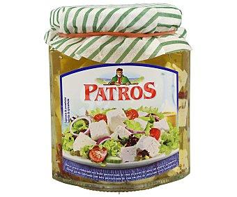 Cuadraditos de queso para ensalada, en aceite vegetal a las finas hierbas patros 150 gr