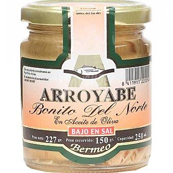 ARROYABE Bonito del norte en aceite de oliva bajo en sal frasco 150 g neto escurrido