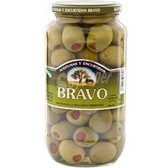 Bravo Aceitunas gordal con pimiento Tarro 550 g