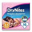 Braguitas absorbentes niña 3-5 años 16u DryNites