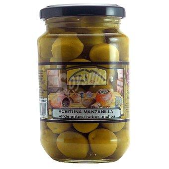 Encurtidos Murcianos Aceitunas manzanilla verde entera sabor anchoa Frasco 205 g neto escurrido