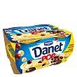 Natillas de vainilla con bolas de 3 chocolates pack 4x117 g Danet Danone