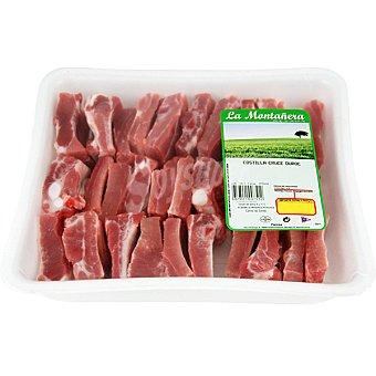 LA MONTAÑERA Costillas frescas de cerdo cortadas peso aproximado Bandeja 12 kg