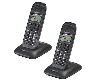 Selecline Teléfono inalámbrico dúo agenda 50 contactos caller