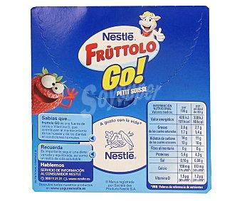 Fruttolo Nestlé Petit líquido de fresa de nestlé 4 unidades de 80 gramos