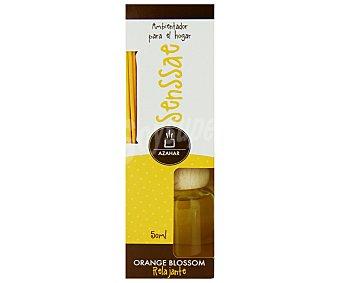 SENSSAE Difusor de varillas de bambú con perfume con olor a Flor de Azahar, que nos evoca el olor embriagador de la primavera meditarranea y nos invita a llenar el alma de sensaciones 50 mililitros
