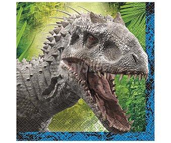 PARTYGRAM Servilletas Jurassic World, 33x33 centímetros 16 unidades