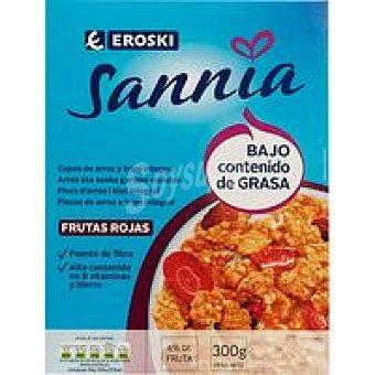 Eroski Sannia Copos integrales frutas rojas Paquete 300 g
