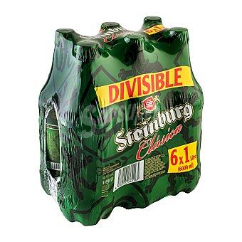 Steinburg Cerveza rubia PET 1L pack 6