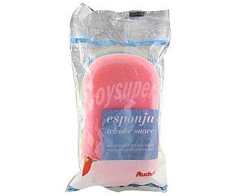 Auchan Esponja tricolor suave 1 unidad