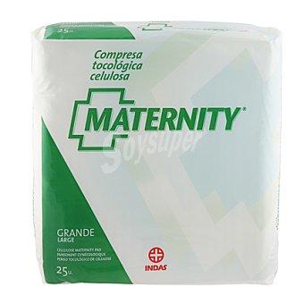 Maternity Compresa postparto de celulosa Paquete 25 unid