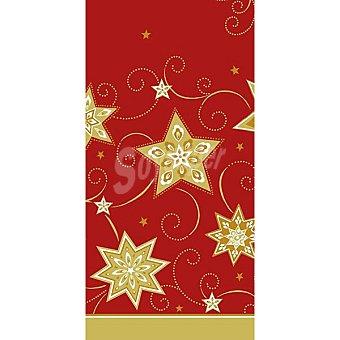 Papstar Mantel Just Stars color rojo 120X180 CM 1 unidad