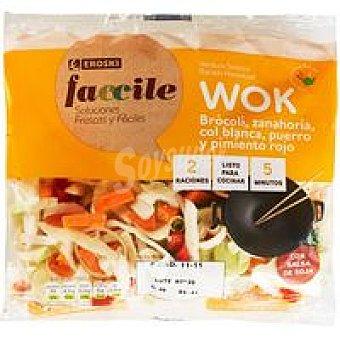 Eroski Faccile Wok verduras salsa soja 310 g