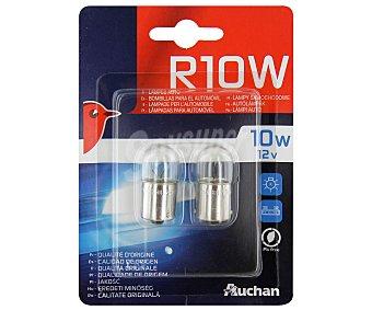 Auchan Bombillas convencionales para automóvil, modelo R10W, potencia: 10W 2 unidades