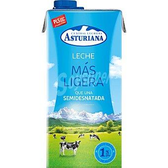 Central Lechera Asturiana Leche semidesnatada Más Ligera 1% Materia Grasa Envase 1 l