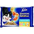 Comida húmeda para gatos selección de pescados  Pack 4 x 100 g Purina Felix