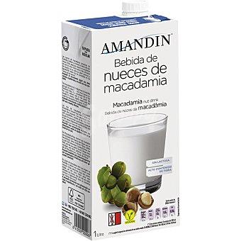 Amandin Bebida de nueces de macadamia sin gluten y sin lactosa envase 1 L