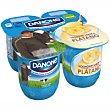 Yogur sabor plátano  Pack 4 unidades de 125 g Danone