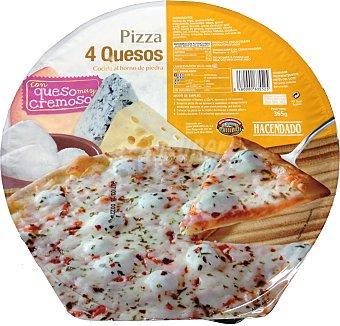 Hacendado Pizza congelada 4 quesos (mozzarella,azul,emental,edam) 365 g unidad