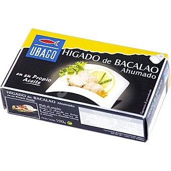 Ubago Hígado de bacalao ahumado en su propio aceite Lata 60 g
