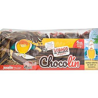 Joselin Chocolín sobaos de chocolate con pepitas Paquete 360 g