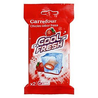 Carrefour Chicle de fresa sin azucar 5 ud