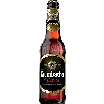 KROMBACHER Dark cerveza negra alemana  botella 33 cl