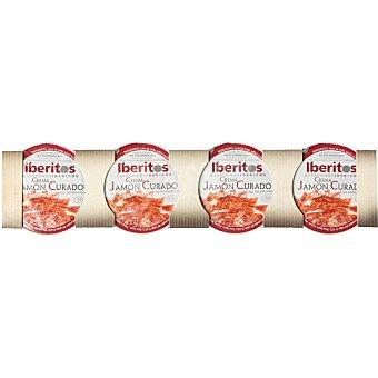 Iberitos Crema de jamón curado 4x25 envase 100 g