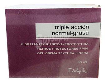 DELIPLUS Crema facial piel normal grasa Tarro de 50 cc