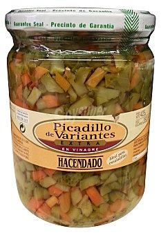 Hacendado Picadillo de variantes (pepinillo y zanahoria) Tarro 425G. escurrido