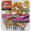 Fun Toppings tiras de pollo teriyaki envase 120 g Envase 120 g La Broche