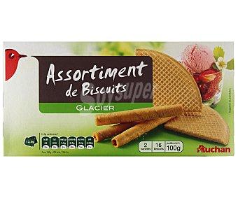 Auchan Surtido de barquillos para helados 100 g