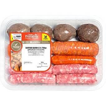 CASA DE PENALVA Surtido barbacoa con longaniza blanca, roja, chorizo y morcilla bandeja 500 g peso aproximado Bandeja 500 g