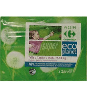 Carrefour Eco Planet Pañal 9-18kg Talla 4 24 ud