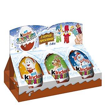 Kinder Huevo de chocolate Sorpresa 6 ud
