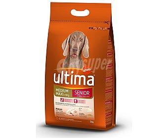 Ultima Affinity Comida seca para perro + 7 años,croquetas ricas en pollo y arroz 3 Kilogramos
